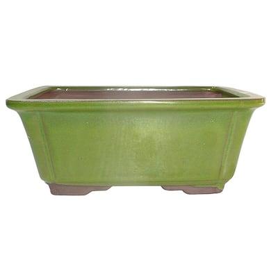 Medium Serpent Green Rectangle Pot