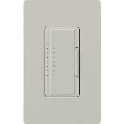 Maestro 600-Watt/VA Multi-Location/Single Pole Countdown Timer - Palladium