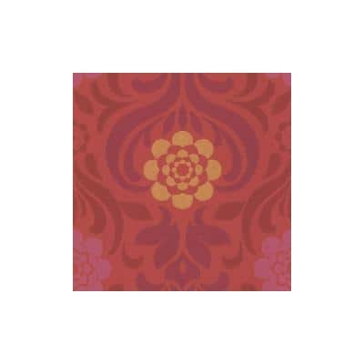 Abagail Red Floral Medallion Paper Strippable Roll (Covers 57.8 sq. ft.)