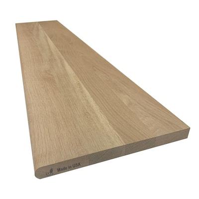 1 in. x 11-1/2 in. x 42 in. White Oak Tread Board