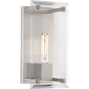 Hobbs Collection 1-Light Brushed Nickel Wall Sconce