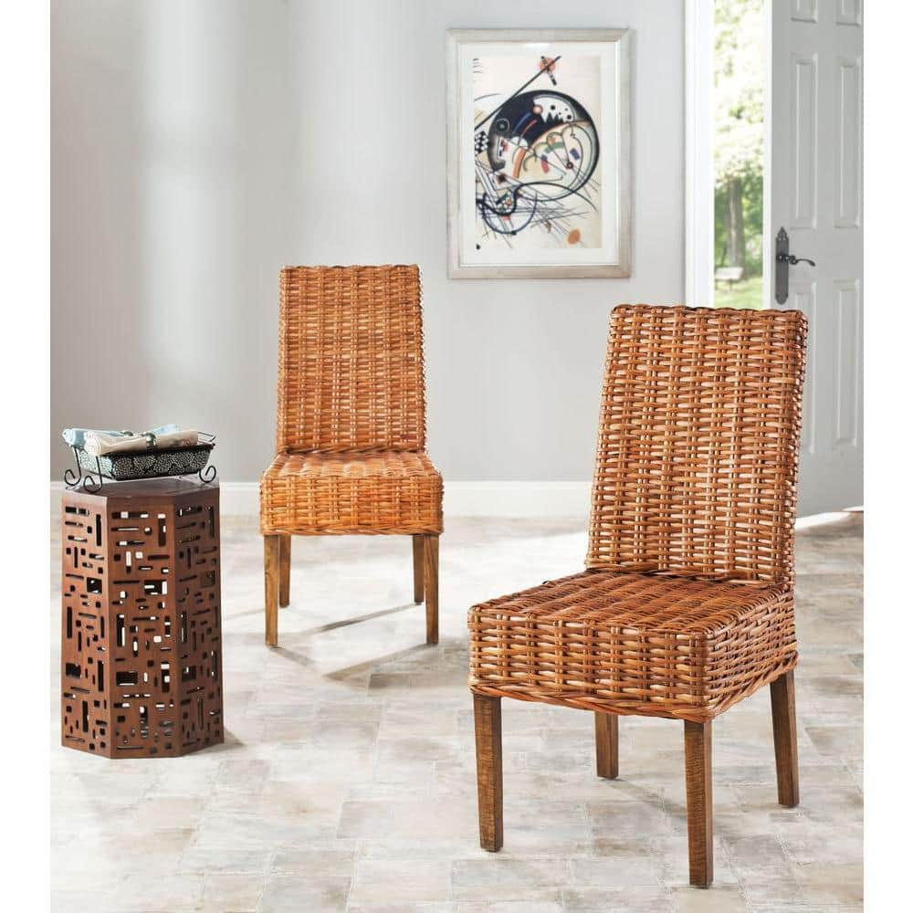 Safavieh Sanibel Honey Mango Wood Side Chair Set Of 2 Fox6504b Set2 The Home Depot