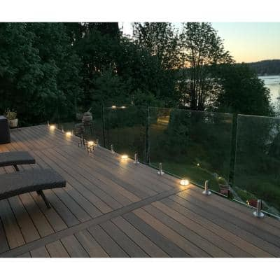 ClearView Glass Railings 54 in. x 39.37 in. Tempered Laminated Hercules Glass Panel with Spigots