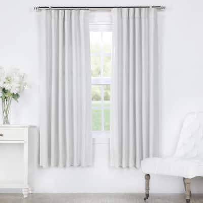 Chalk Off White Rod Pocket Blackout Curtain - 50 in. W x 63 in. L