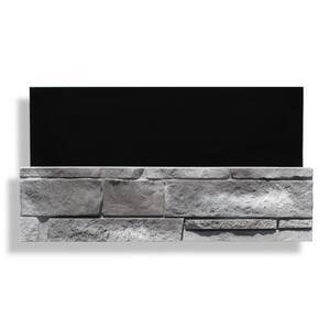 6 in. x 24 in. Stone Veneer Ledgestone Flat Panel Evening Gray (Box of 8)