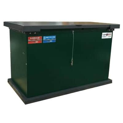 TuffBoxx GRIZZLY Series 149 Gal. Green Galvanized Metal Bear-Proof Trash Can/Storage Container