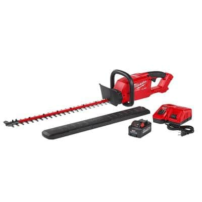 M18 FUEL 24 in. 18-Volt Lithium-Ion Brushless Cordless Hedge Trimmer Kit with 8.0 Ah Battery and Rapid Charger