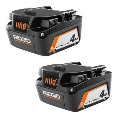 18V Lithium-Ion 4.0 Ah Battery (2-Pack)