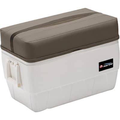 Premier Pontoon 48 Qt Igloo Cooler With Cushion Top in Stone, Mocha Java and Khaki