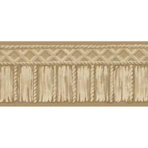 Beige Tribal Rope Beige Wallpaper Border