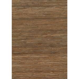Kaede Light Brown Grasscloth Light Brown Wallpaper Sample