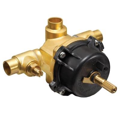 1/2 in. x 1/2 in. Brass Sweat Pressure Balance Shower Valve