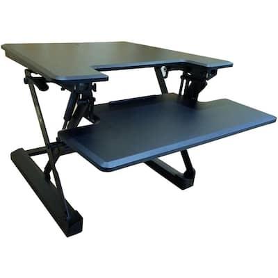 27 in. W x 23 in. D Lift Desk in Black
