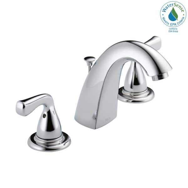 Delta Foundations 8 In Widespread 2 Handle Bathroom Faucet In Chrome B3511lf Ppu Eco The Home Depot