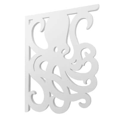 16 in. Paintable PVC Decorative Octopus Mailbox or Porch Bracket