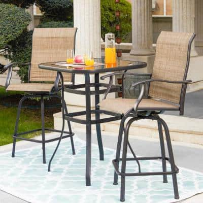 3-Piece Metal Sling Outdoor Bistro Set