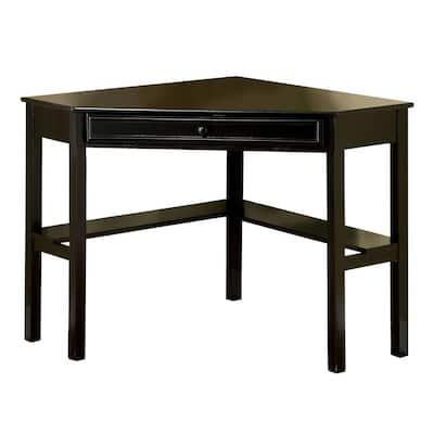 48 in. Corner Black Computer Desks with Keyboard Tray