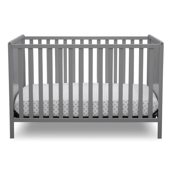 Delta Children Heartland Classic 4 In 1 Convertible Crib Grey 555640 026 The Home Depot