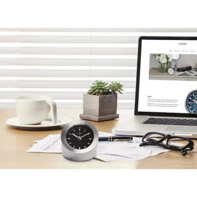 Workplace Tabletop Clock with Black Dial