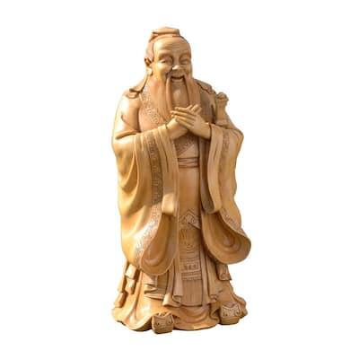 24 in. H Confucius Garden Sculpture Statue