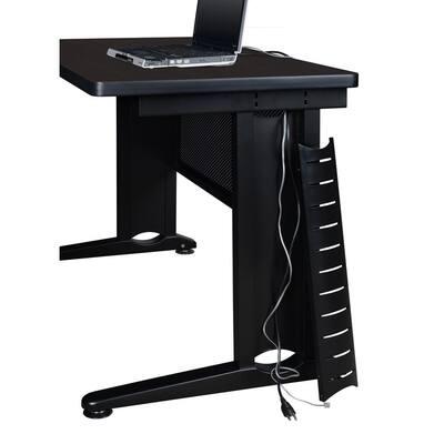 Fusion 60 in. W x 24 in. D Mocha Walnut Single Pedestal Desk