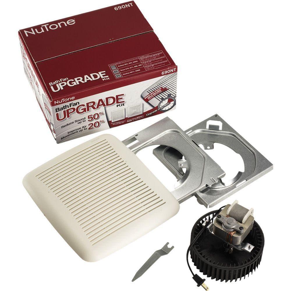Broan Nutone 60 Cfm Bath Fan Upgrade, Nutone Bathroom Exhaust Fan Replacement Parts