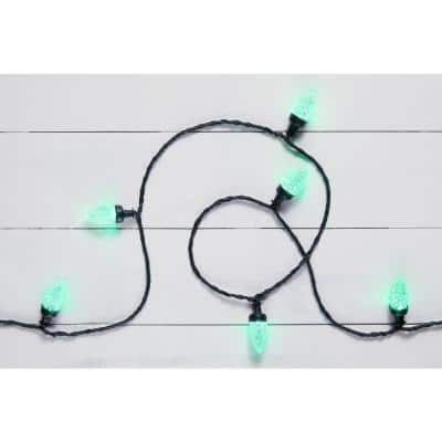 23 ft. 24-Light C9 Christmas Lightshow LED Light String with 140 Effects