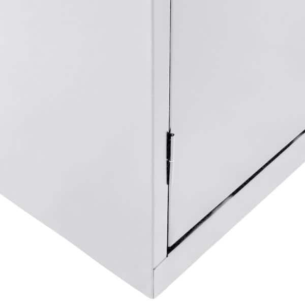 Sandusky Classic Series 36 In W X 78 In H X 24 In D Storage Cabinet With Adjustable Shelves In Dove Gray Ca41362478 05 The Home Depot