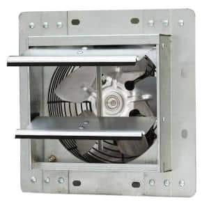 242 CFM Silver Electric Powered Gable Mount Shutter Fan/Vent