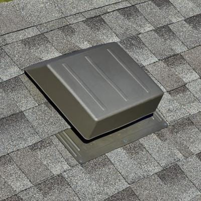 65 sq. in. NFA Weatherwood Resin High Impact Slant Back Roof Louver Static Vent (Carton of 6)