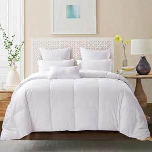 Extra Warmth White Full/Queen 600-Fill Power 75% White Goose Down Comforter