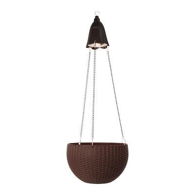 30 in. H Hanging Solar Lighted Plastic Basket/Planter