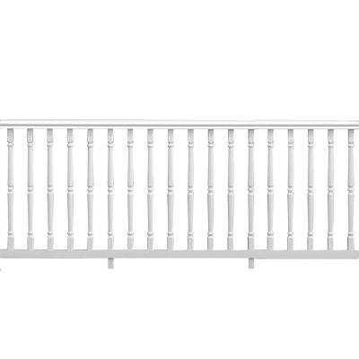 Williamsburg 8 ft. x 36 in. White PolyComposite Rail Kit without Brackets
