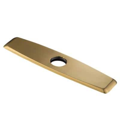 10 in. Brass Deck Plate for Kitchen Faucet in Brushed Brass