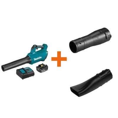 116 MPH 459 CFM 18-Volt LXT Lithium-Ion Brushless Cordless Blower Kit with bonus Blower Nozzle and Flat End Nozzle