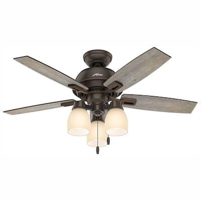 Donegan 44 in. LED 3-Light Indoor Onyx Bengal Bronze Ceiling Fan