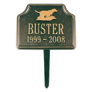 Retriever Bronze/Gold Two Line Lawn Memorial Plaque