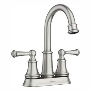 Brecklyn 4 in. Centerset 2-Handle Bathroom Faucet in Spot Resist Brushed Nickel