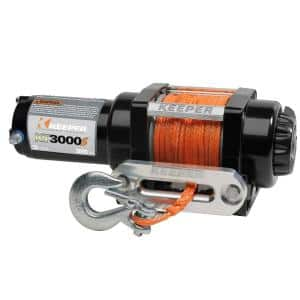 12-Volt DC 3,000 lbs. Winch with Synthetic Rope
