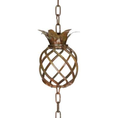 Rain Chain-Copper Pineapple
