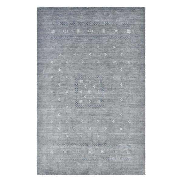 Solo Rugs Simi Bohemian Gabbeh Slate 5 Ft X 8 Ft Hand Loomed Area Rug S9417 05000800 Gray The Home Depot