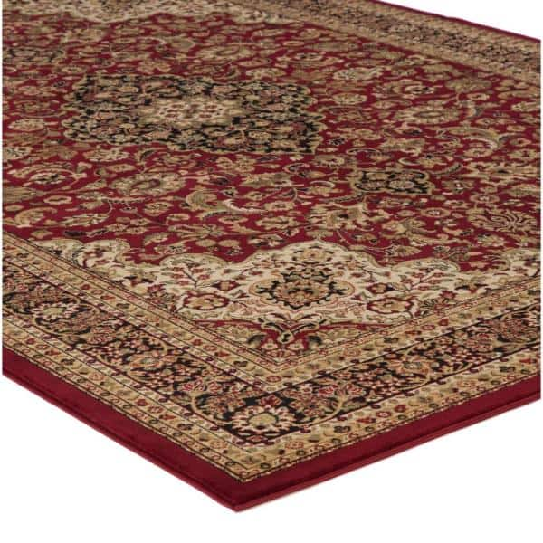Concord Global Trading Persian Classics Medallion Kashan Red 8 Ft X 11 Ft Area Rug 20807 The Home Depot