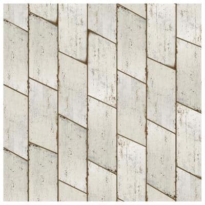Retro Naveta Blanc 7-1/8 in. x 16-3/8 in. Porcelain Floor and Wall Tile (11.07 sq. ft. / case)