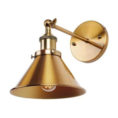 Rhem 1-Light Brass Wall Sconce