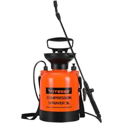 0.8 Gal. Lawn and Garden Pump Pressure Sprayer with Pressure Relief Valve and Shoulder Strap