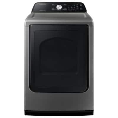Large 7.4 cu. ft. Capacity Platinum Electric Dryer with Sensor Dry