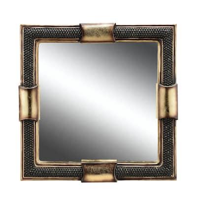 Medium Square Black Classic Mirror (24 in. H x 24 in. W)