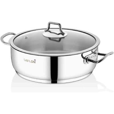 4 qt. Stainless Steel Saute Pot with Glass Lid