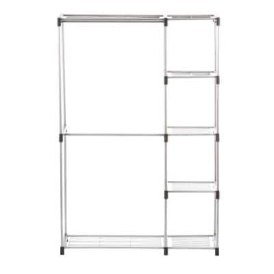 Supreme Garment/Closet Collection 19.5 in. D x 45.38 in. W x 68 in. H Double Rod Metal Closet System Shelves