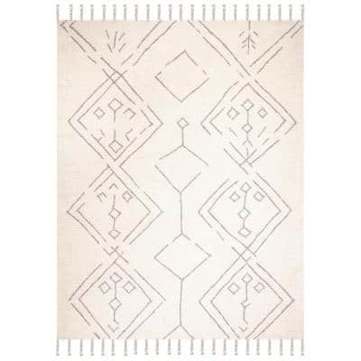 Casablanca Ivory/Silver 8 ft. x 10 ft. Area Rug
